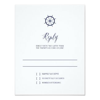 Classic Nautical Stripes | Wedding Reply Card