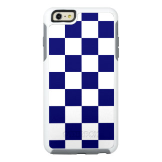 Classic Navy and White Checkered Pattern OtterBox iPhone 6/6s Plus Case
