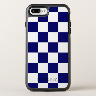 Classic Navy and White Checkered Pattern OtterBox Symmetry iPhone 7 Plus Case