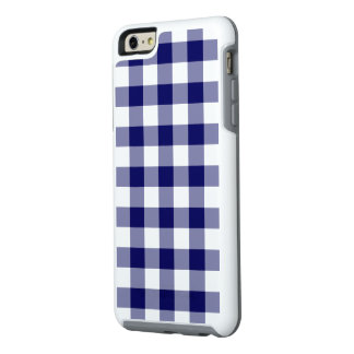 Classic Navy and White Gingham Plaid OtterBox iPhone 6/6s Plus Case