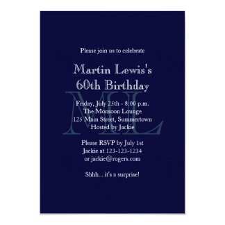 Classic Navy Birthday Invitation