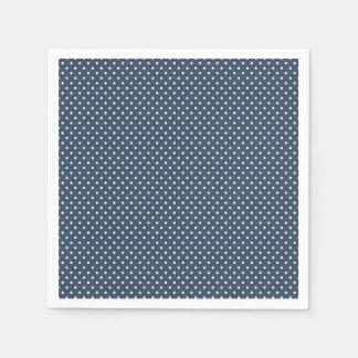 Classic Navy Blue and White Polka Dot Napkins