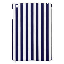 Classic Navy Blue and White Stripe Pattern Cover For The iPad Mini