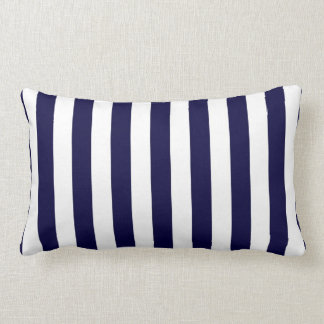 Classic Navy Blue and White Stripe Pattern Pillows