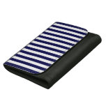 Classic Navy Blue and White Stripe Pattern Women's Wallet