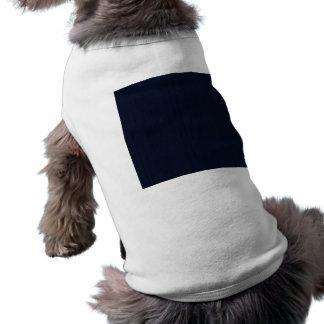 Classic Navy Blue Bamboo Look Wood Grain Doggie T Shirt