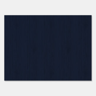 Classic Navy Blue Bamboo Look Wood Grain Sign