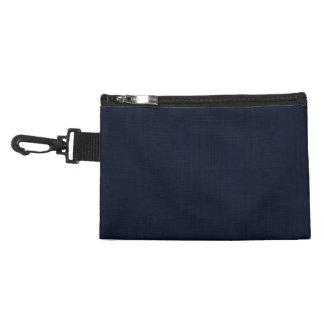 Classic Navy Blue Bamboo Wood Grain Look Accessory Bag