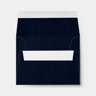 Classic Navy Blue Bamboo Wood Grain Look Envelopes