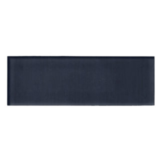Classic Navy Blue Bamboo Wood Grain Look Name Tag