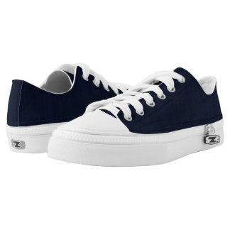 Classic Navy Blue Bamboo Wood Grain Look Printed Shoes