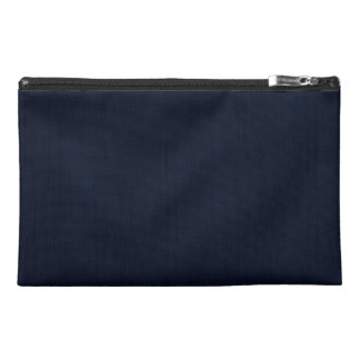 Classic Navy Blue Bamboo Wood Grain Look Travel Accessory Bag