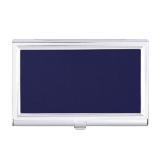 Classic navy blue metal business card case zazzle classic navy blue metal business card case colourmoves