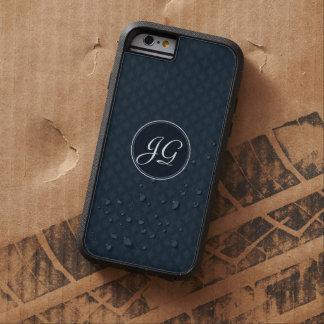 Classic Navy Blue Pattern Custom Monogram iphone 6 iPhone 6 Case