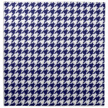 Classic Navy Blue White Houndstooth Napkin
