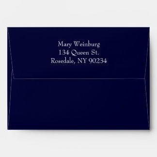 Classic Navy Invitation Envelope. Envelope