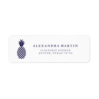 Classic Navy Pineapple Label