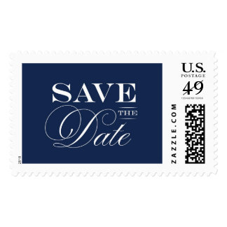 Classic Navy Save The Date | Atelier Isabey Stamps