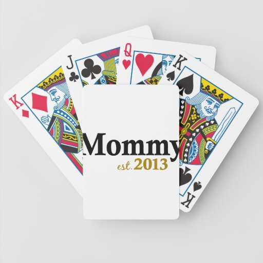 Classic New Mommy 2013 Bicycle Playing Cards