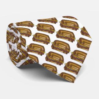 Classic NYC Deli Reuben Pastrami Sandwich Food Tie