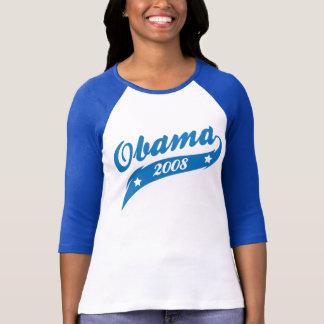 Classic Obama 08 Varsity style Swoosh Tail Graphic T-Shirt