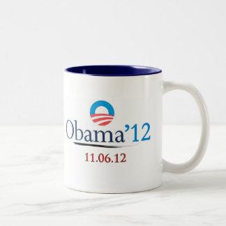 Classic Obama 2012 Large Ceramic Mug