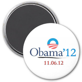 Classic Obama 2012 Large Refrigerator Magnet
