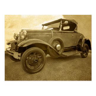 Classic old car postcard