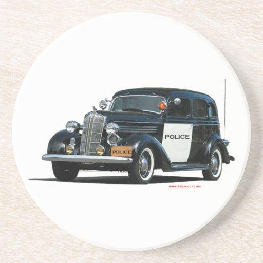 Classic_Old_Police_Car Posavasos Manualidades