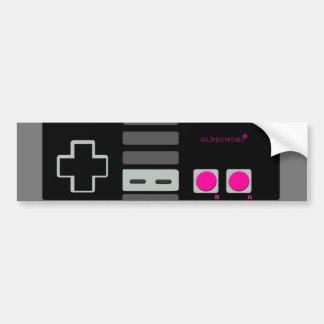"Classic ""Old School"" Controller in Pink Bumper Sticker"