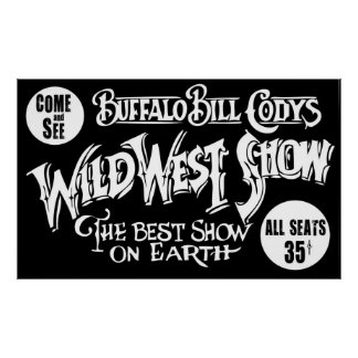 CLASSIC OLD WEST BUFFALO BILL BANNER POSTER