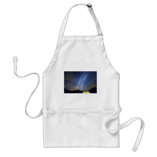 Classic Old Yellow School House Milky Way Sky Adult Apron
