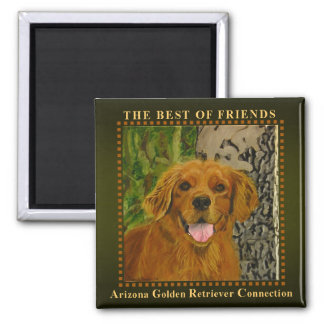 Classic Olive Golden Retriever Magnet