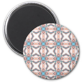 Classic Orange And Blue Pattern 2 Inch Round Magnet