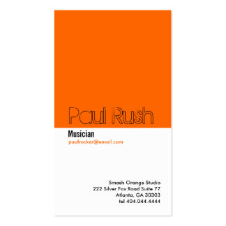 Classic Orange Divider Business Card 2