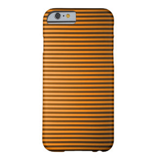 Classic Orange Pinstripe Barely There iPhone 6 Case