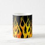 Classic Orange Racing Flames on Fire Coffee Mug