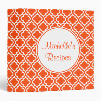 Classic Orange Recipe Binder