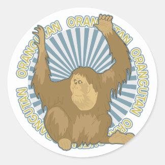 Classic Orangutan Round Stickers