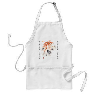 Classic oriental chinese sumi-e ink flowers paint adult apron