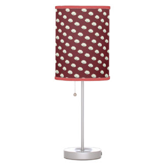 Classic oriental japanese camelia flower pattern table lamp
