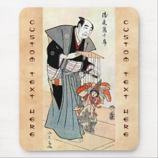 Classic oriental japanese puppeteer ukiyo-e art mouse pads