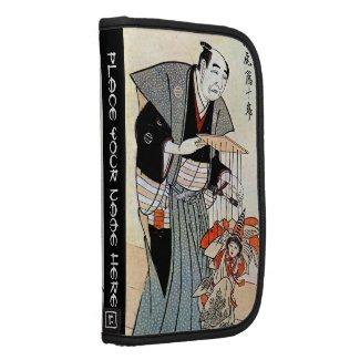 Classic oriental japanese puppeteer ukiyo-e art organizer