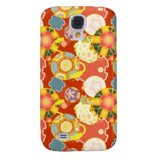 Classic oriental japanese vibrant kimono pattern galaxy s4 cover