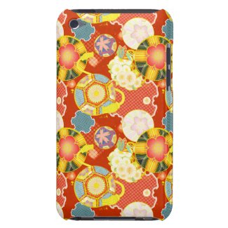 Classic oriental japanese vibrant kimono pattern iPod touch case