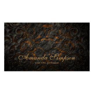 Classic Ornament Gold Fashion Designer Card Double-Sided Standard Business Cards (Pack Of 100)
