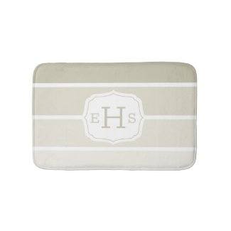 Classic Paint Swatches Beige Gradient Monogrammed Bath Mat