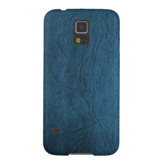 Classic Pale Blue Leather Print Galaxy S5 Case