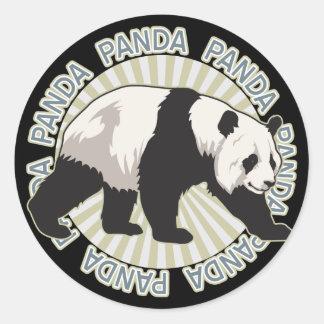 Classic Panda Bear Classic Round Sticker
