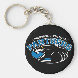 Classic Panther Round Keychain